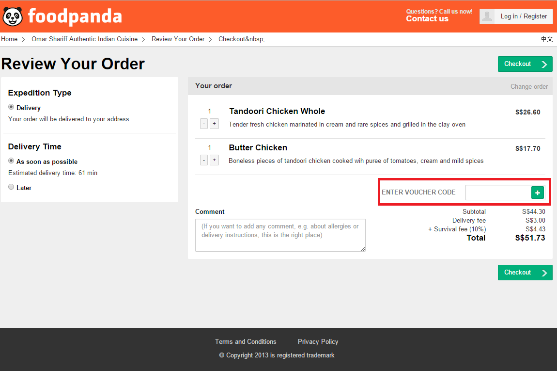 How to use a Foodpanda coupon