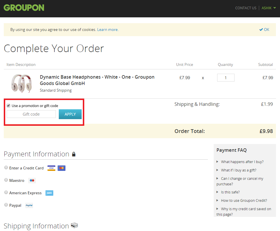 How to use a Groupon coupon