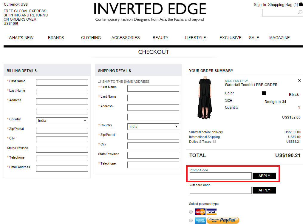 How to use a Inverted Edge coupon