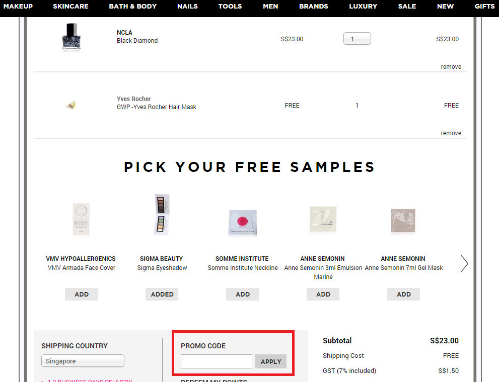 How to use a Luxola coupon