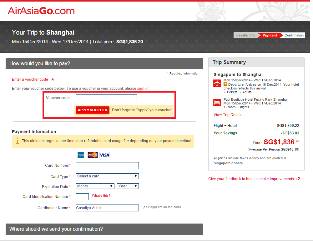 How to use a AirAsiaGo Hongkong coupon