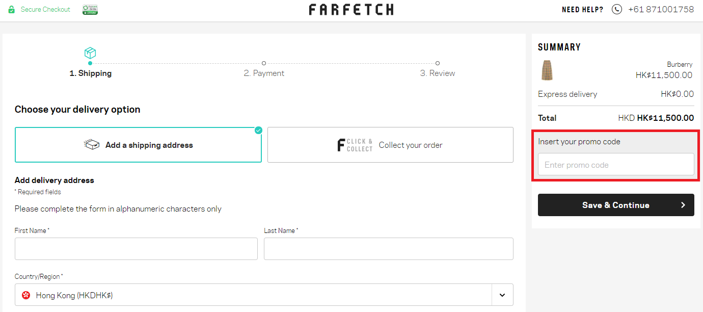 How to use a Farfetch coupon