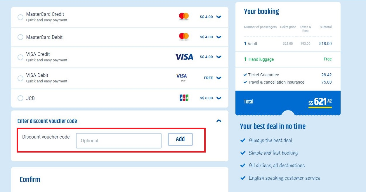How to use a CheapTickets.sg coupon