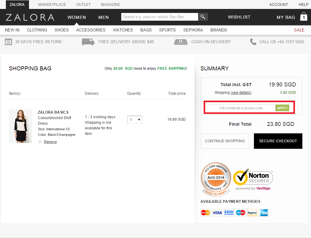 How to use a Zalora coupon
