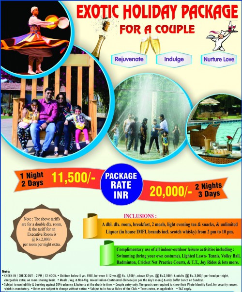 Exotic Holiday Package at Best Western Resort Country Club