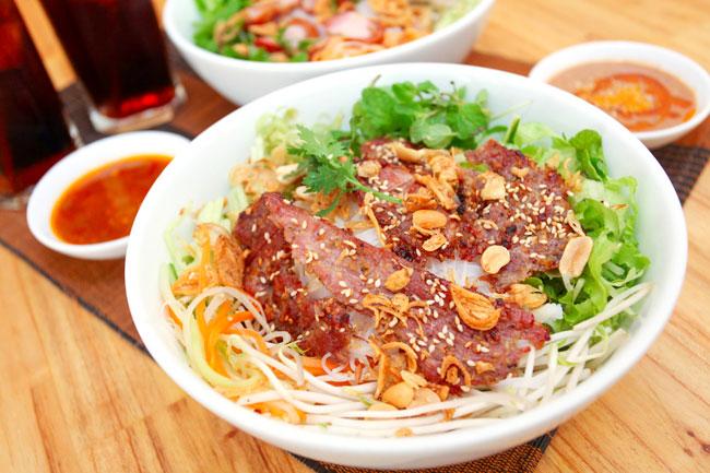 Image result for bún thịt nướng vinh
