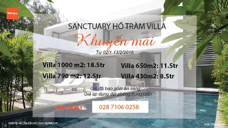 Sanctuary Hồ Tràm Villa
