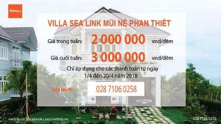 Sealink Mũi Né Villa Phan Thiết  Cam kết giá rẻ nhất Khuyến mãi từ 15.4 - 31.5