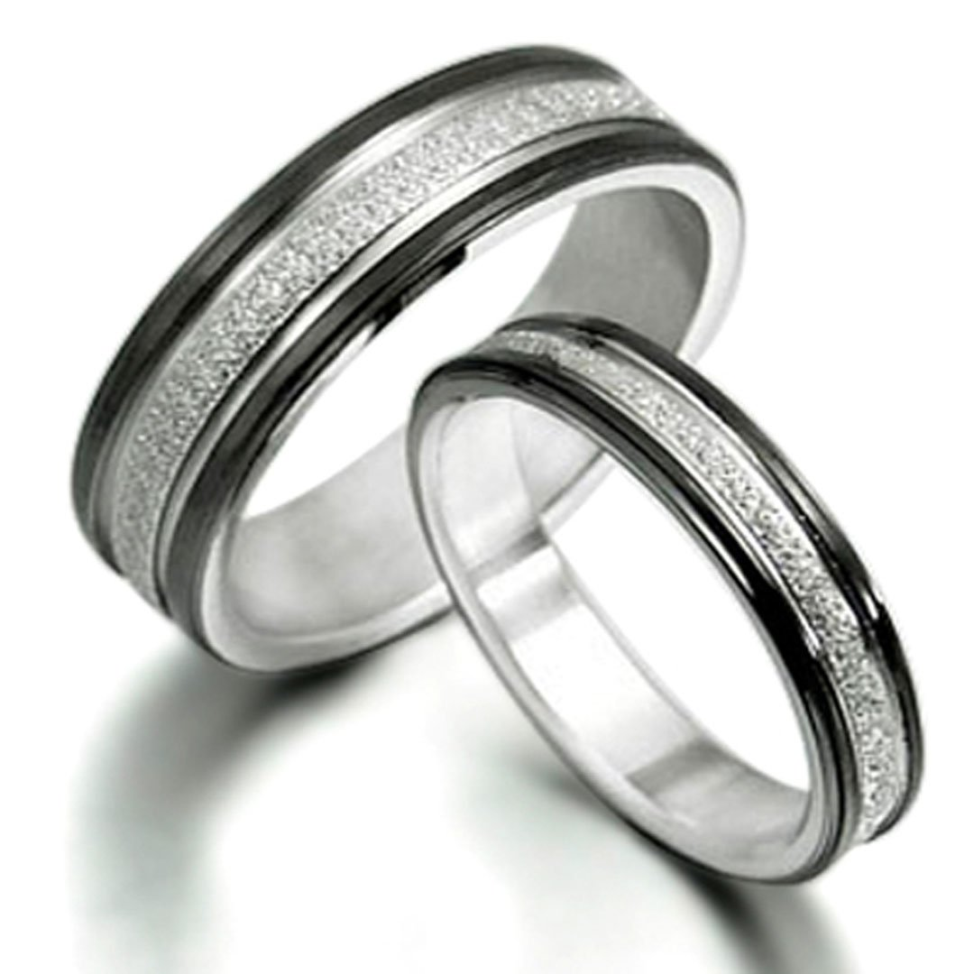hers and mens set bands wedding silver jewellery couple sterling his ring carbide image tungsten engagement rings