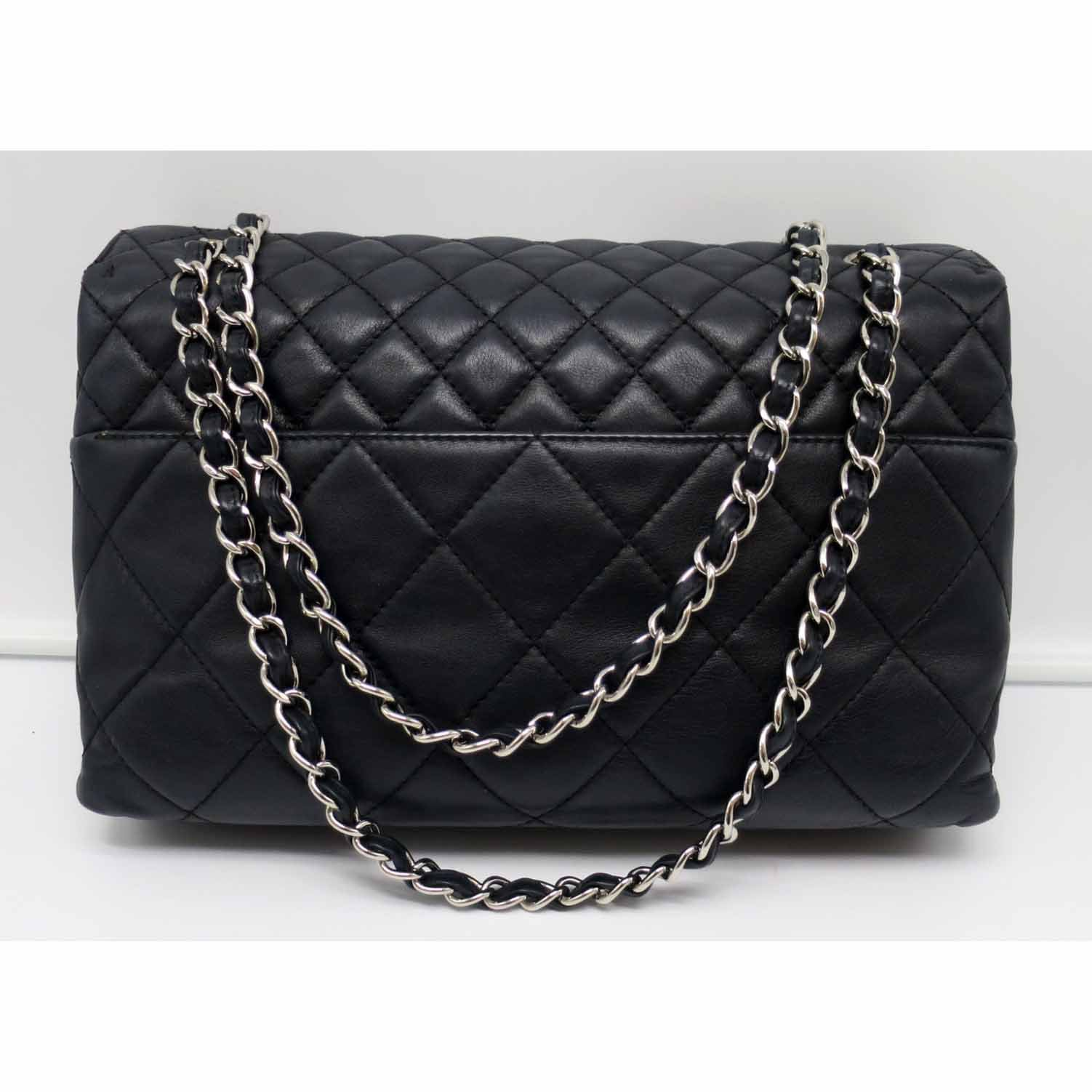 Details about Authentic Chanel Quilted Calfskin Leather Classic In Business  Flap Bag 73e0060568