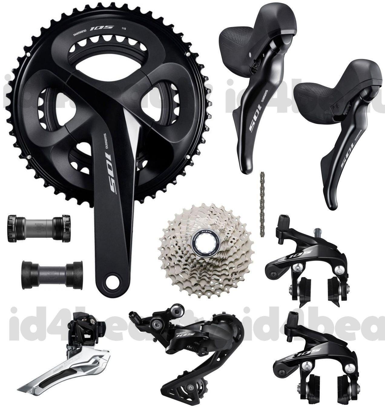 Shimano 105 R7000 Groupset 2x11-speed Road Bike 7Pcs Mechanical New 50//34T GS