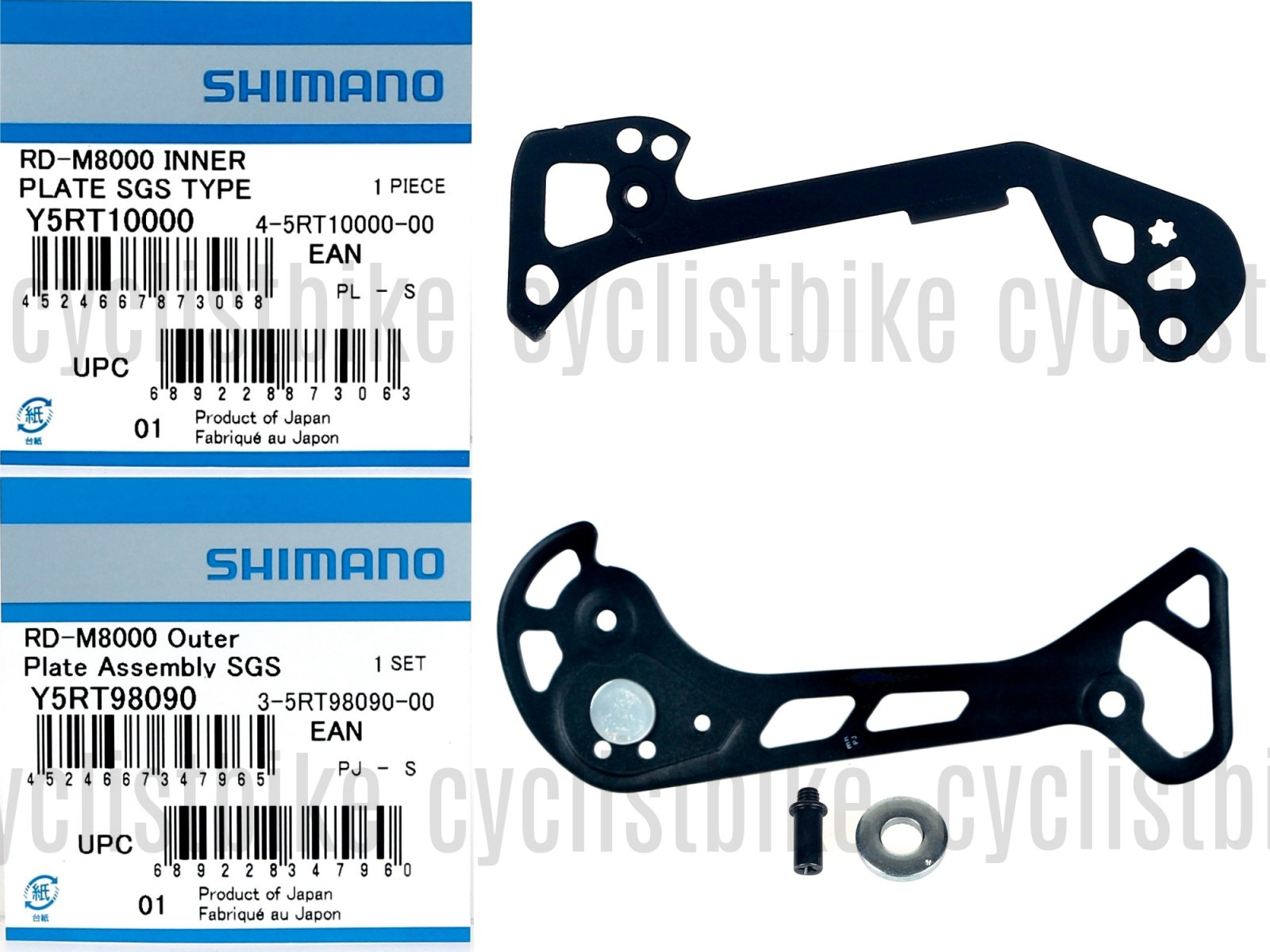Shimano Deore XT RD-M8000-SGS RD Cage Set Plate for Super Long Cage NIB