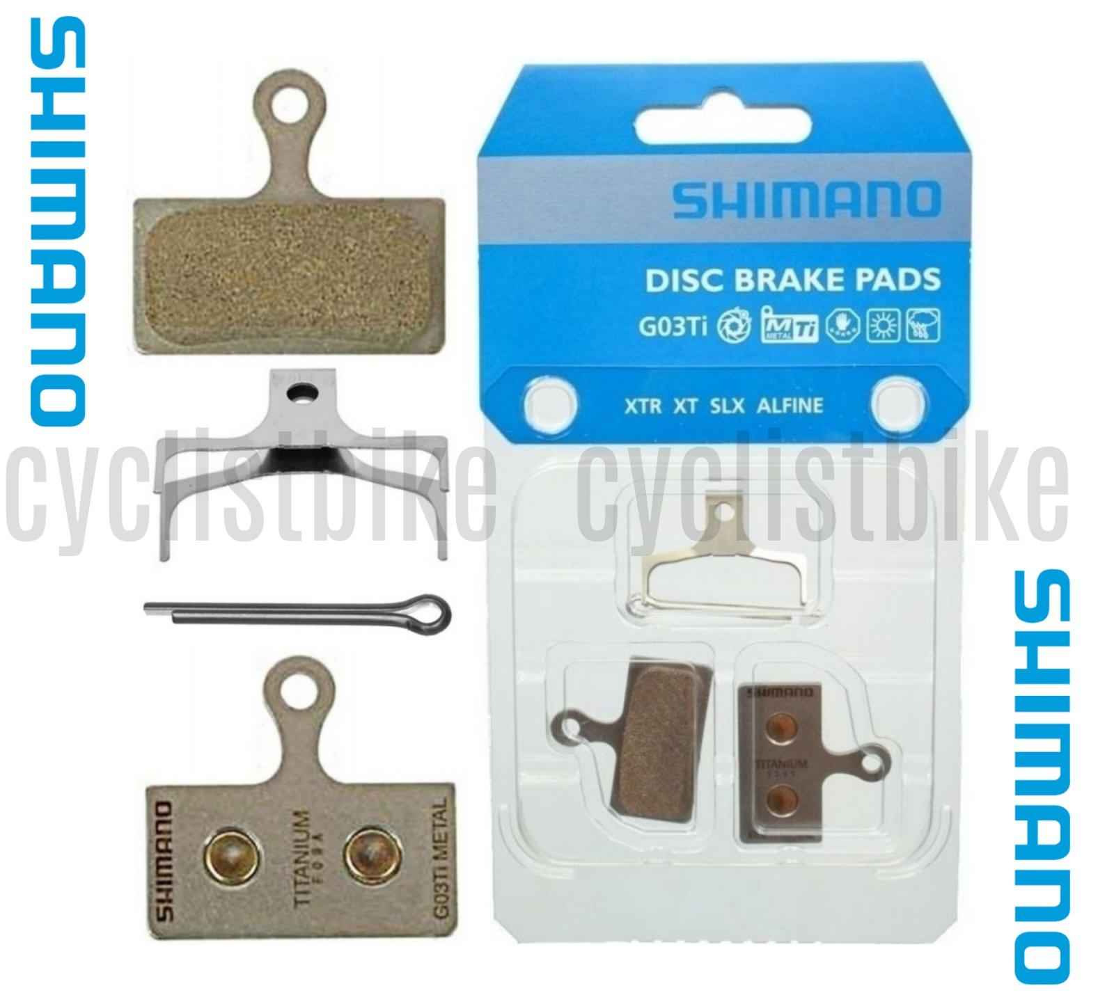 2 Pairs Shimano G03Ti Metal Disc Brake Pad Pair /& Spring w//Split Pin NIB