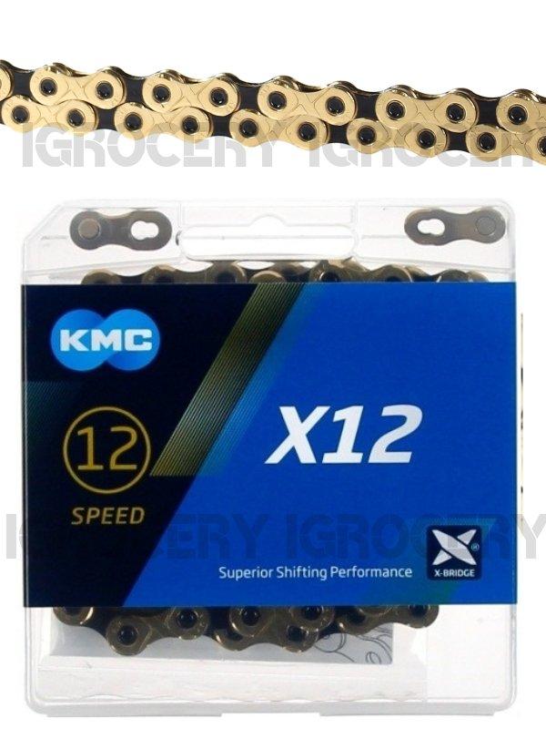 SRAM 12 speed 126link NIB 2019 KMC X12-TI//BLK Chain Gold//Black MTB for Shimano