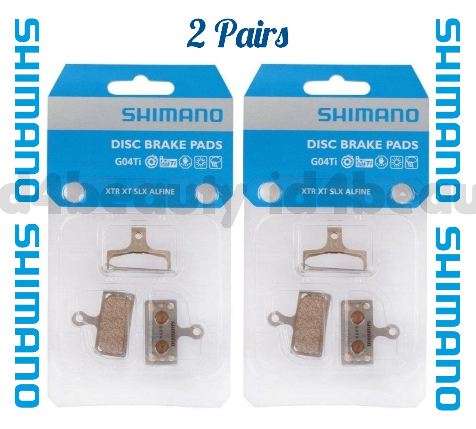 New Y8LW98010 XTR//XT//SLX//Alfine//Road Metal Shimano G04Ti Disc Brake Pads