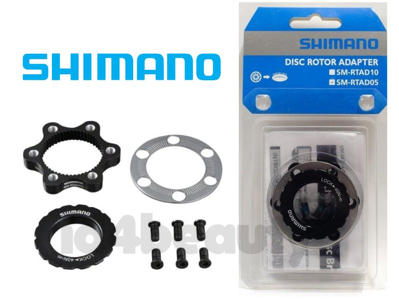 Shimano SM-RTAD05 Centerlock To 6-Bolt Disc Rotor Adapter Kit 1Pack or 2Pack