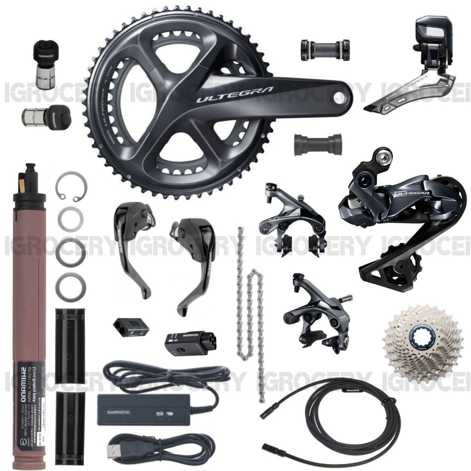 6865d79a6fc Details about Shimano Ultegra R8060 DI2 T&T trial Upgrade GroupSet 172.5mm  w/ SW-R9160 New