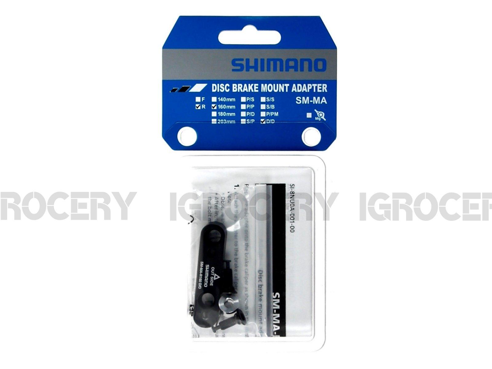 Shimano R160D//D Disc Brake Adaptor Flat-Mount Caliper Flat-Mount Frame NIB