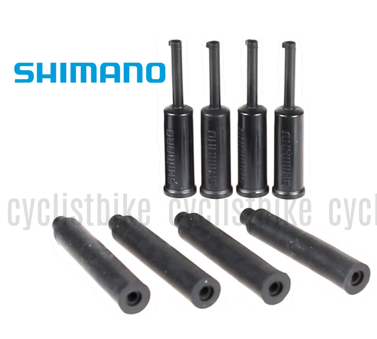 Genuine Shimano Shift Outer Cable End Cap Sealed 4mm /& Rubber Shield 5 pairs