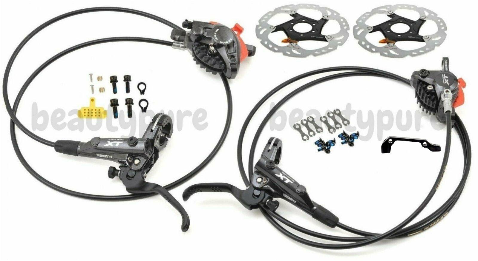 SHIMANO XT Disc Brake Set M8000 1000//1700mm /& RT86 160 Rotors w//o adapter