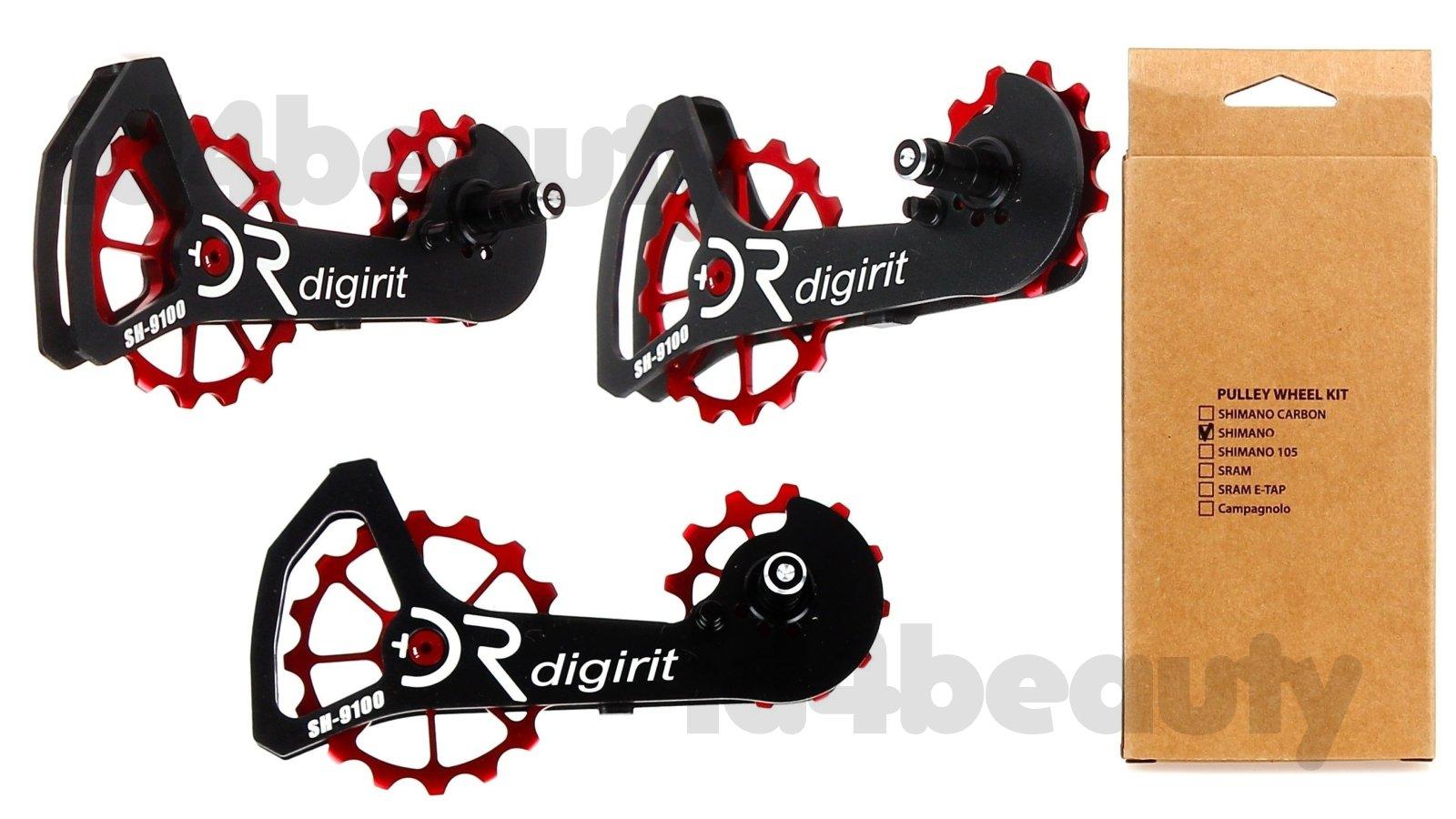 Digirit Ultegra /& Dura Ace 9000 Red Oversize Pullys Wheel Kit NIB