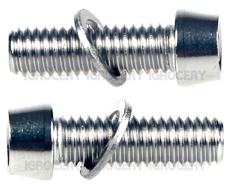 M6 x19mm Shimano Ultegra FC-R800//6800//6700 Clamp Bolt/&Washer Pair New