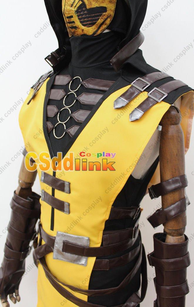 mortal kombat x scorpion cosplay costume with mask ebay