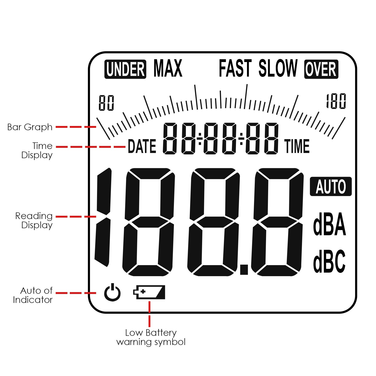 professional instrument high accuracy sound level meter measuring 30db