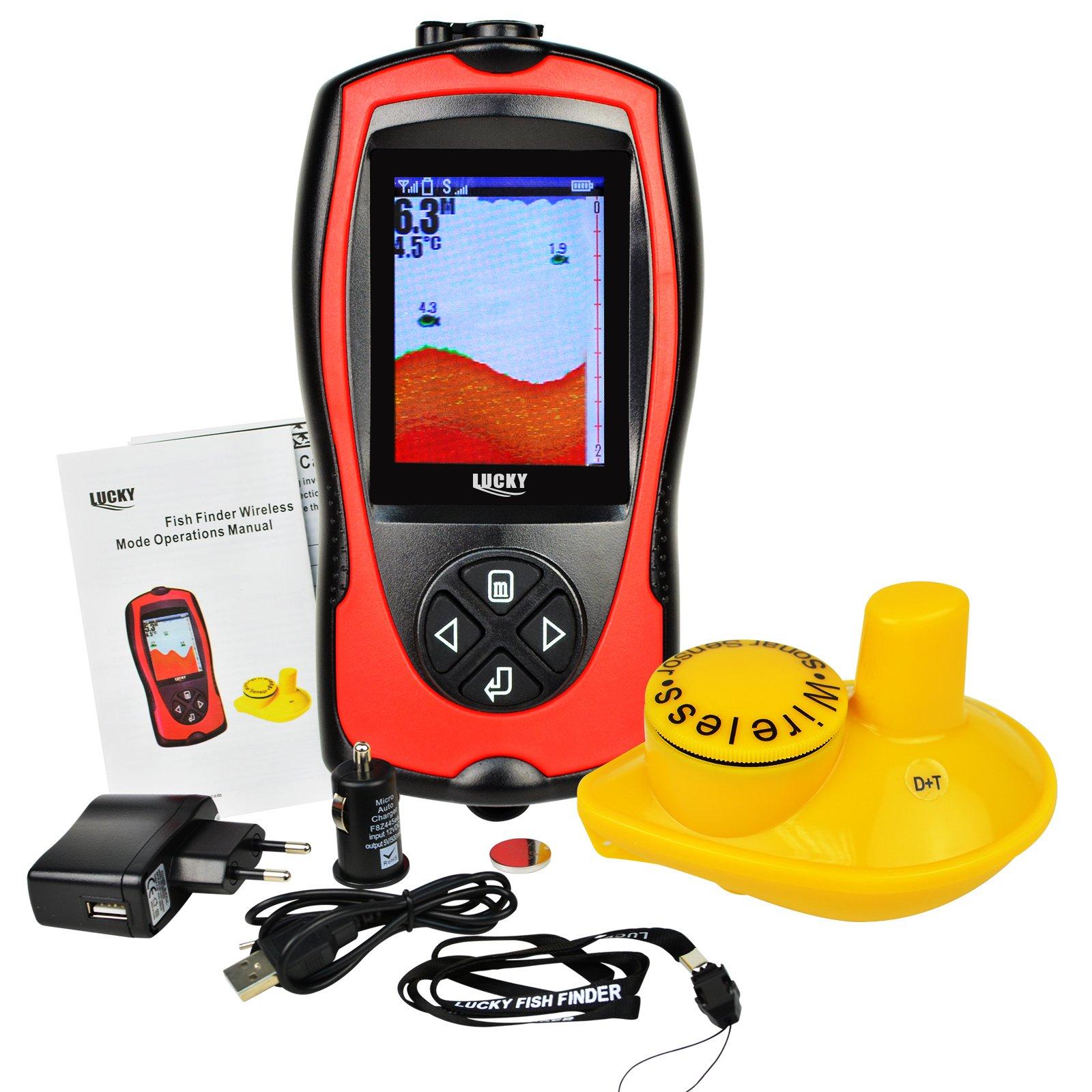 2~147ft Fish Finder Sensor Sonar Detector Fishing for Boats, Kayak ...
