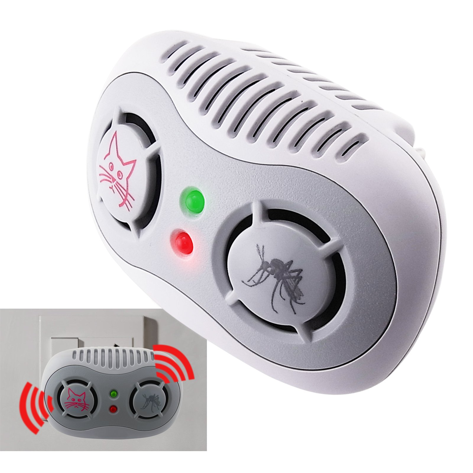 Non Toxic Repellent Ultrasonic Repeller 2 In 1 Anti Mouse Mosquito Repellents By Electronic Circuit This Is A New Generation Chaser And Combined Unit It Works Continuously Transmitting Powerful Range Of