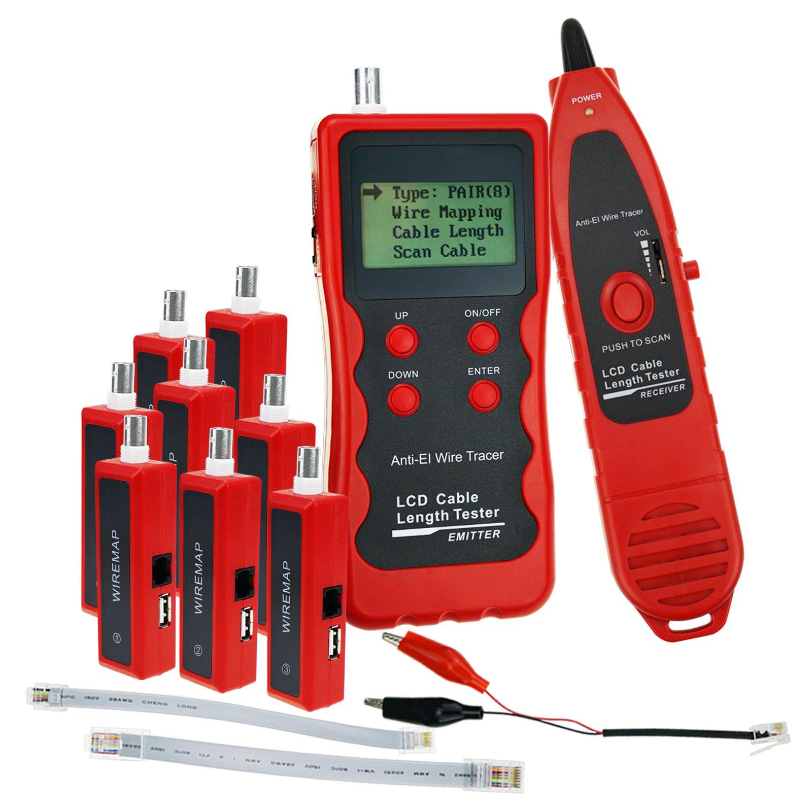cable length tester 8 wiremap adaptor rj45 rj11 bnc usb digital lan rh ebay com