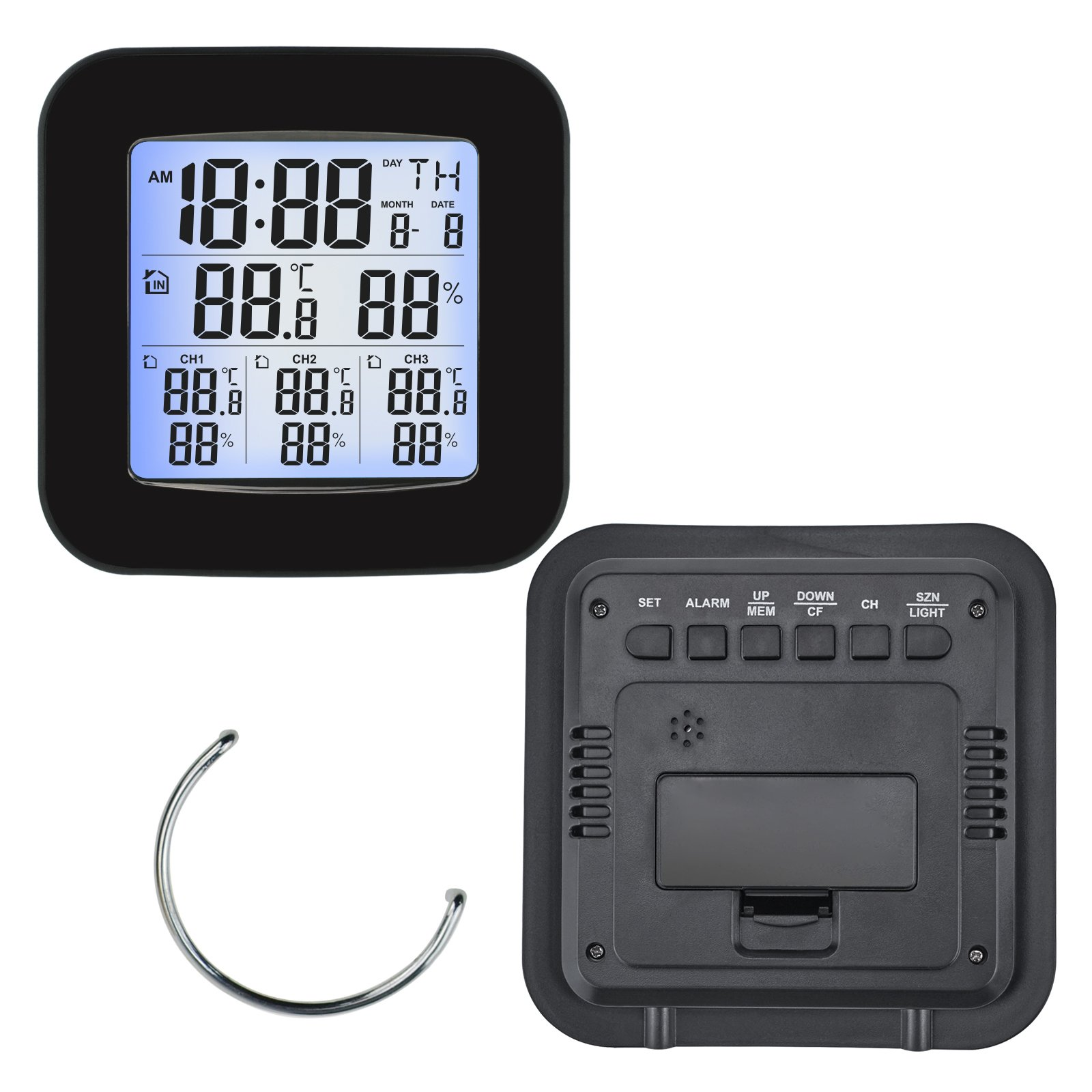 Wireless Weather Station Thermometer 3 Sensor Temperature