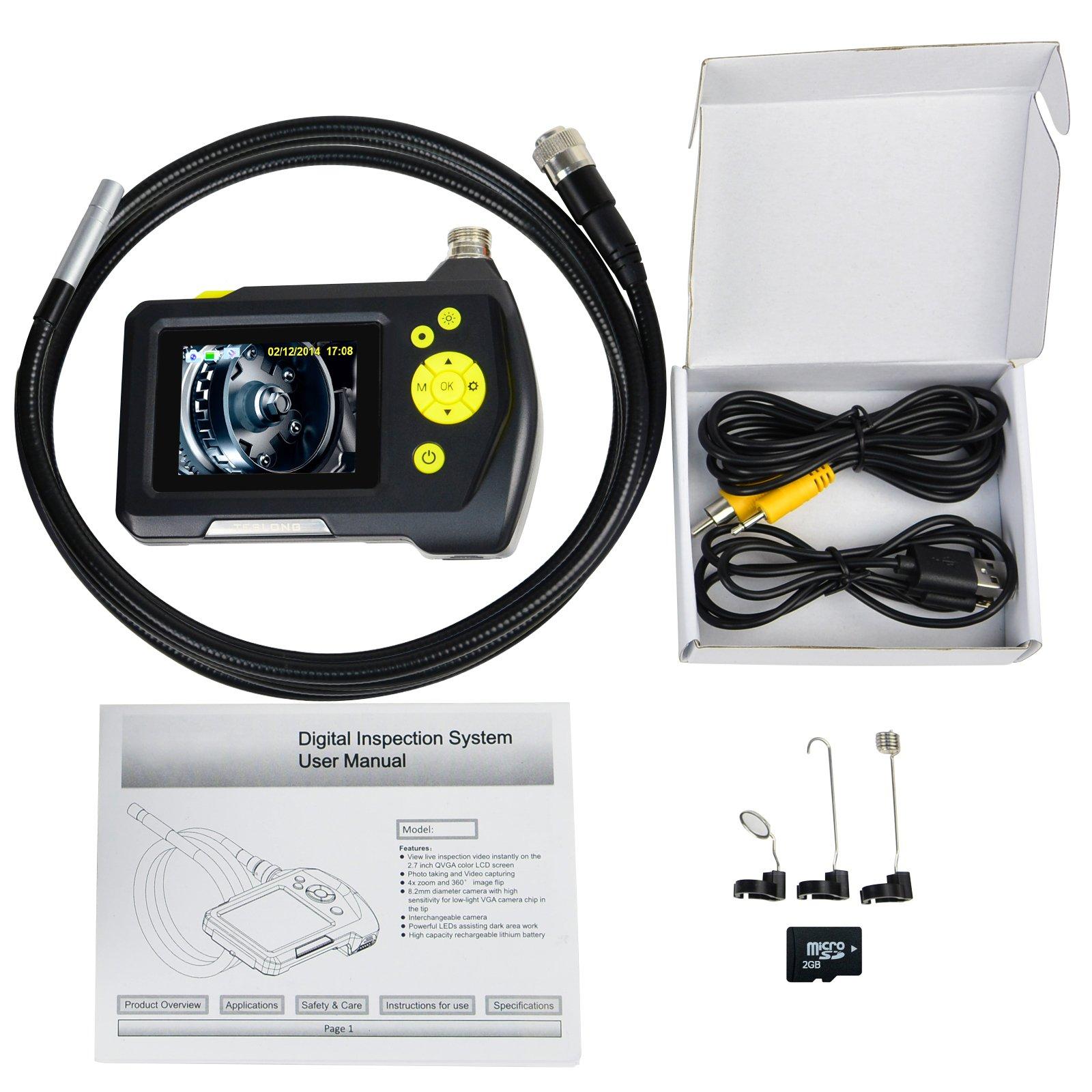 cable digital inspeccion camara endoscopio boroscopio  mm portatil alcance ebay