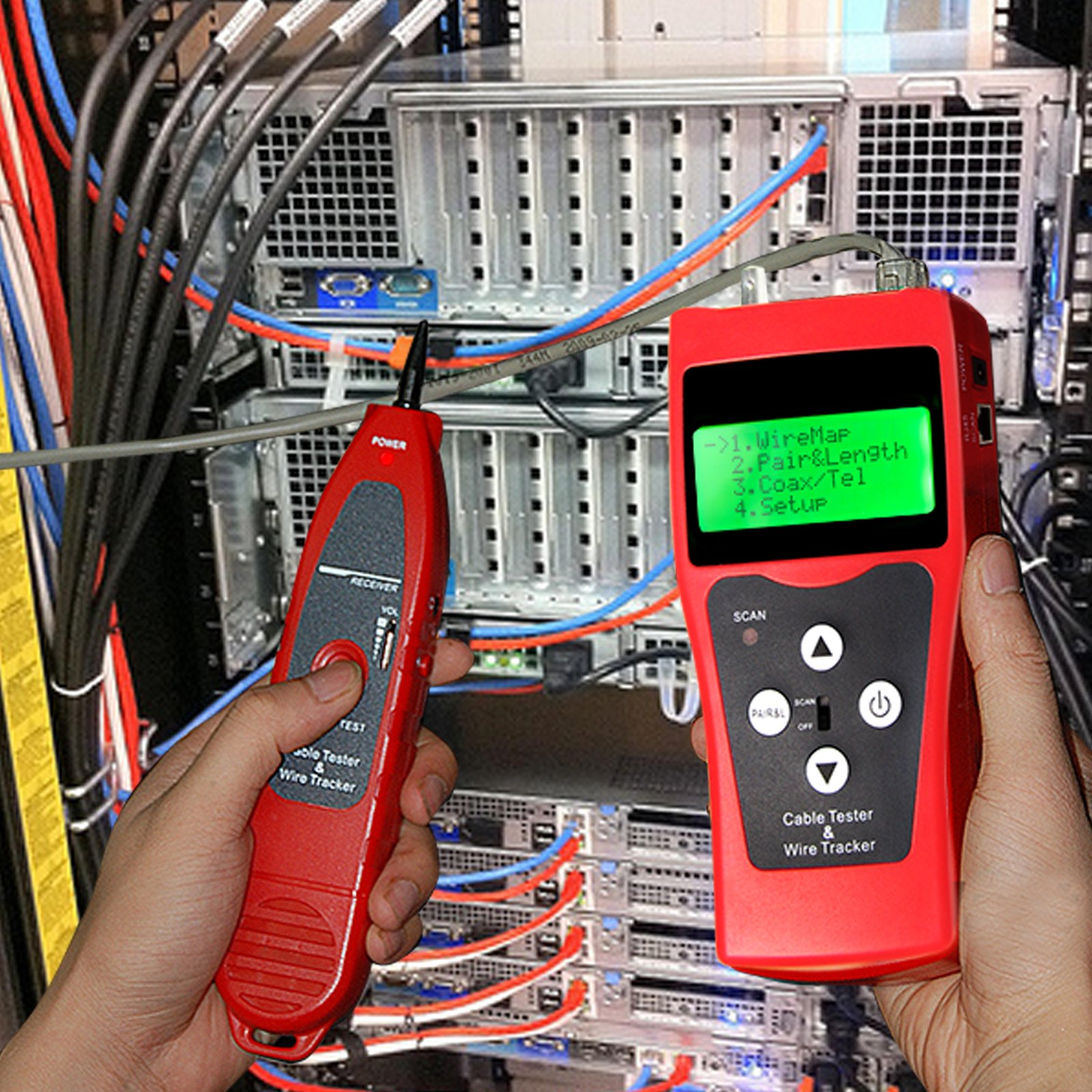 Multipurpose Network Cable Tester Wire Hunt Stp Utp Coaxial 5e 6e Rj11 Wiring This Tracking Is Designed To Detect And Test A Wide Range Of Circuit Status Including Usb