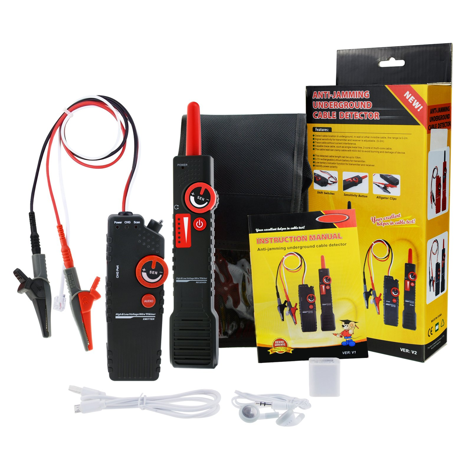 Network Cable Tracker Detector Wire Locator Coax Bnc Tester With Tracing Wiring Behind Walls This Low High Voltage Anti Jamming Underground Is Mainly Used To Detect Location In Inside Wall Ceiling Flooring And