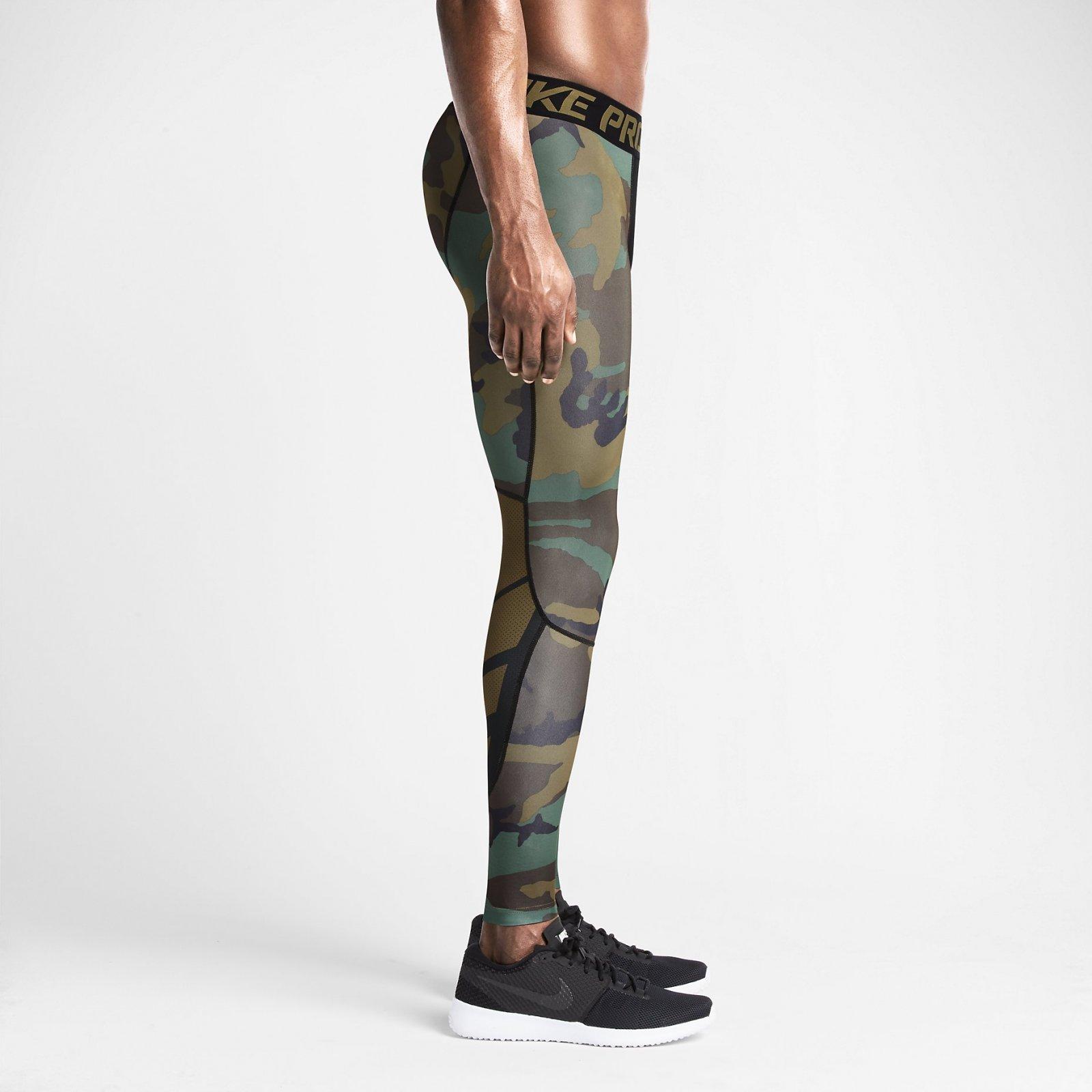 40e41bd08b Nike Pro Combat Hypercool Men's Tights Compression Green Camo $60 ...