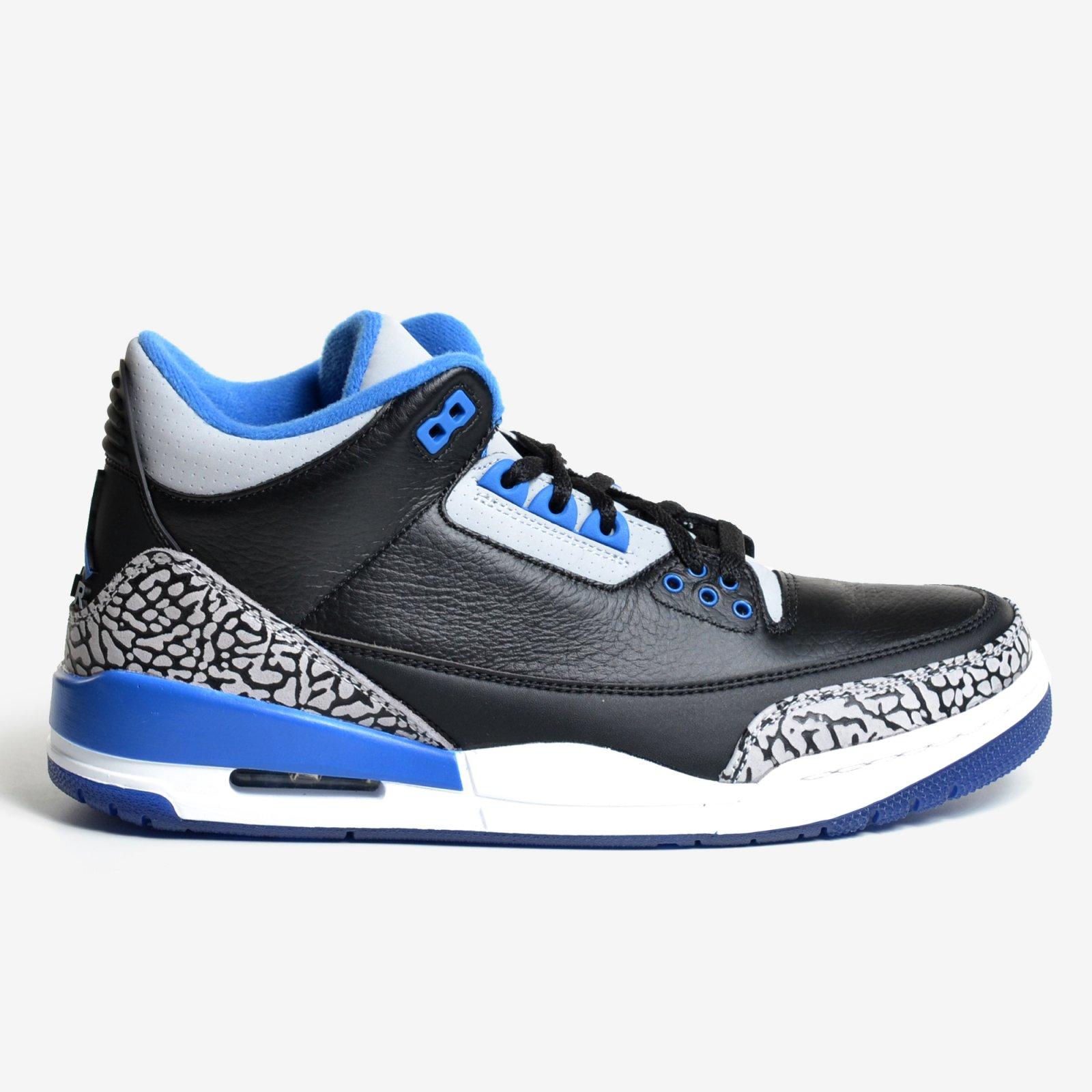 Nike Air Jordan 3 Cement Whit Blue Jordan Retro 3 Mens  9b9c9fd21d