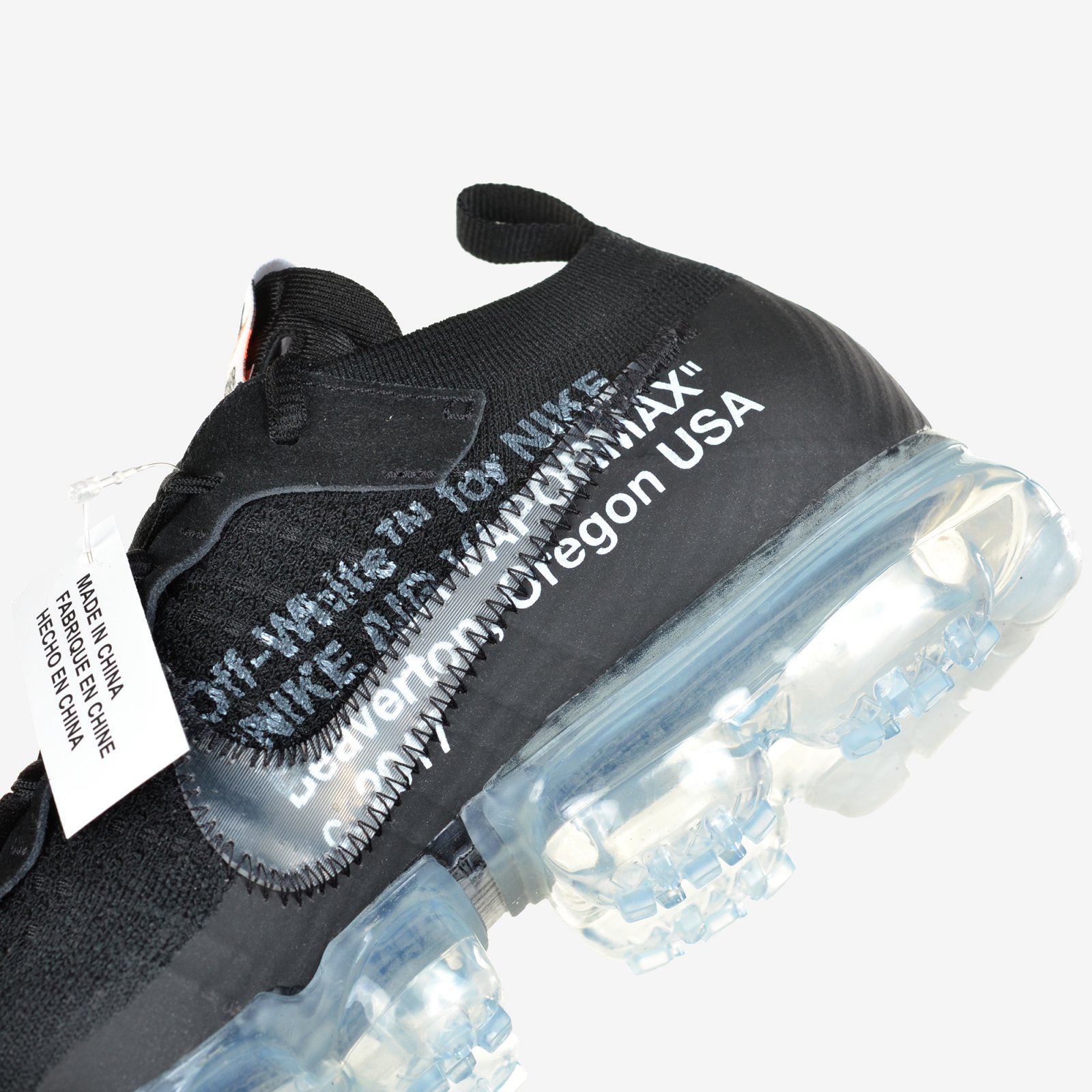 09959f6cf97 Details about The 10 Nike Air Vapormax FK Off White Black Clear Total  Orange New DS AA3831-002