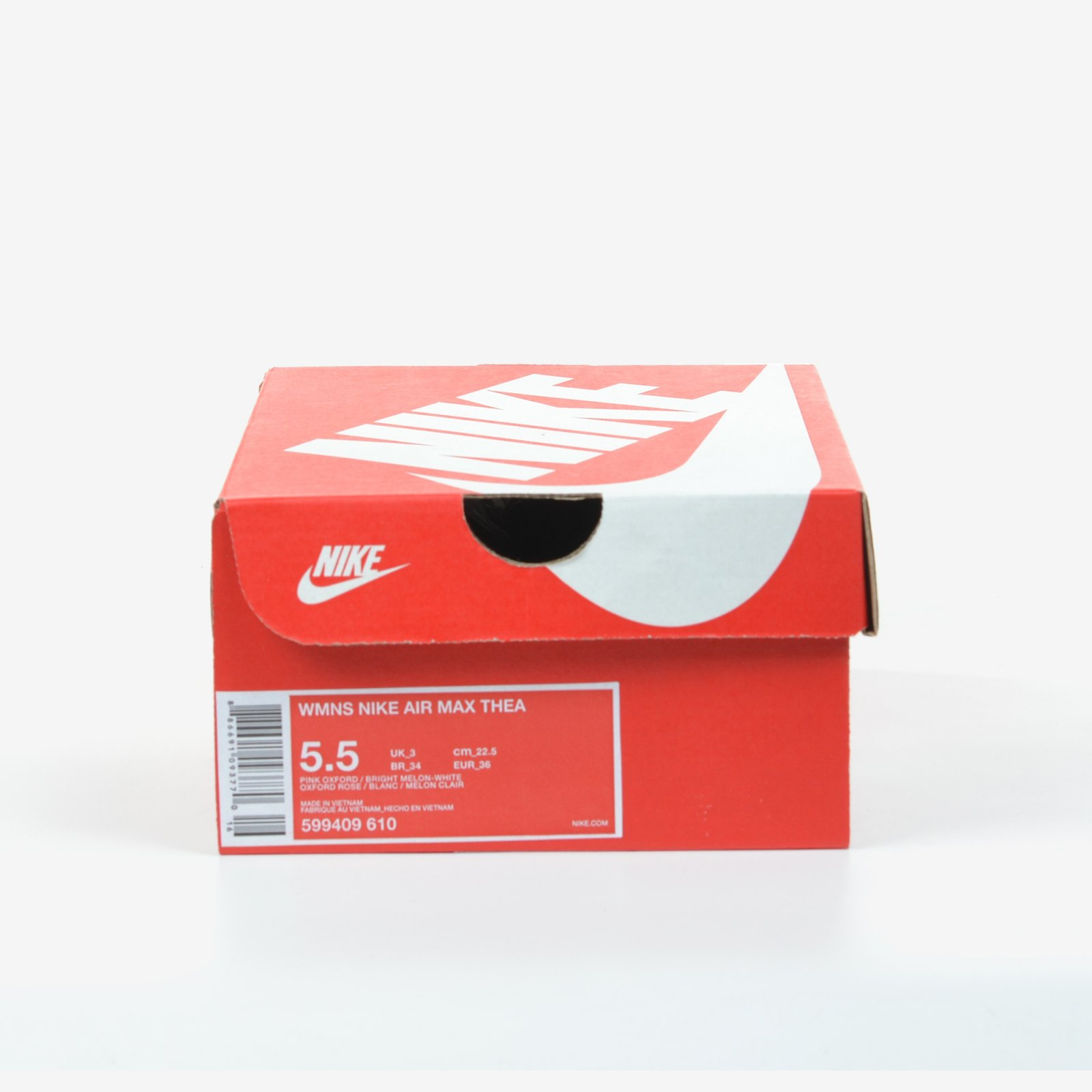 Details about Nike Women's Air Max Thea Pink Oxford Melon Size 5.5 Running Shoes 599409 610