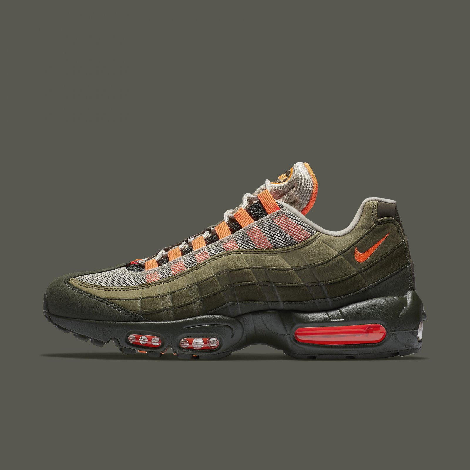 new concept ba5b5 7cd0c Details about Nike Air Max 95 OG String Total Orange Neutral Olive 2018  Men's AT2865-200