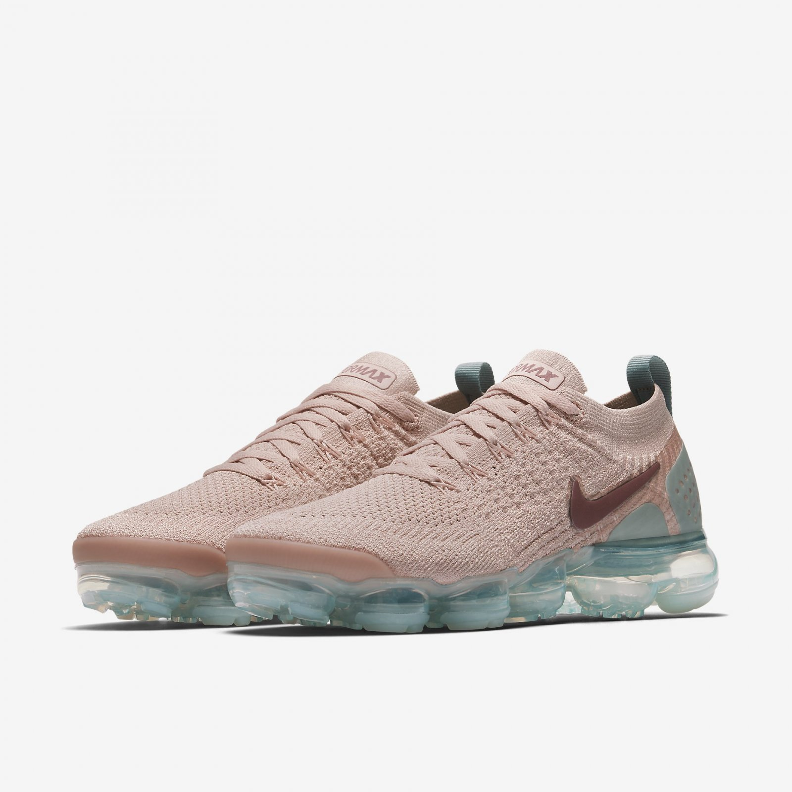 5cf48cac4e24b Nike Women s Air VaporMax Flyknit 2 Particle Beige Mauve Running ...