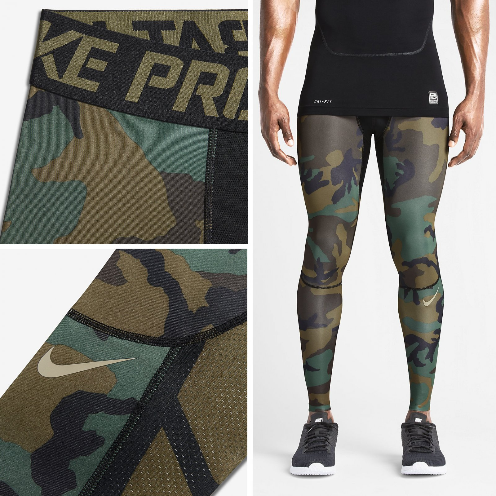 good looking quality rich and magnificent Details about Nike Pro Combat Hypercool Men's Tights Compression Green Camo  $60 NWT 658573-274