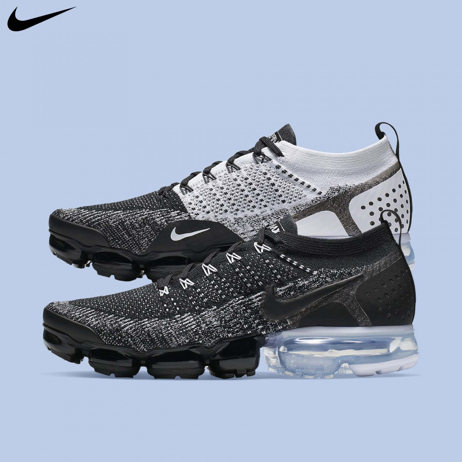 12a7edd9a4 Details about Nike Men's Air Vapormax Flyknit 2 Orca Black White Running  Shoes 2019 942842-016