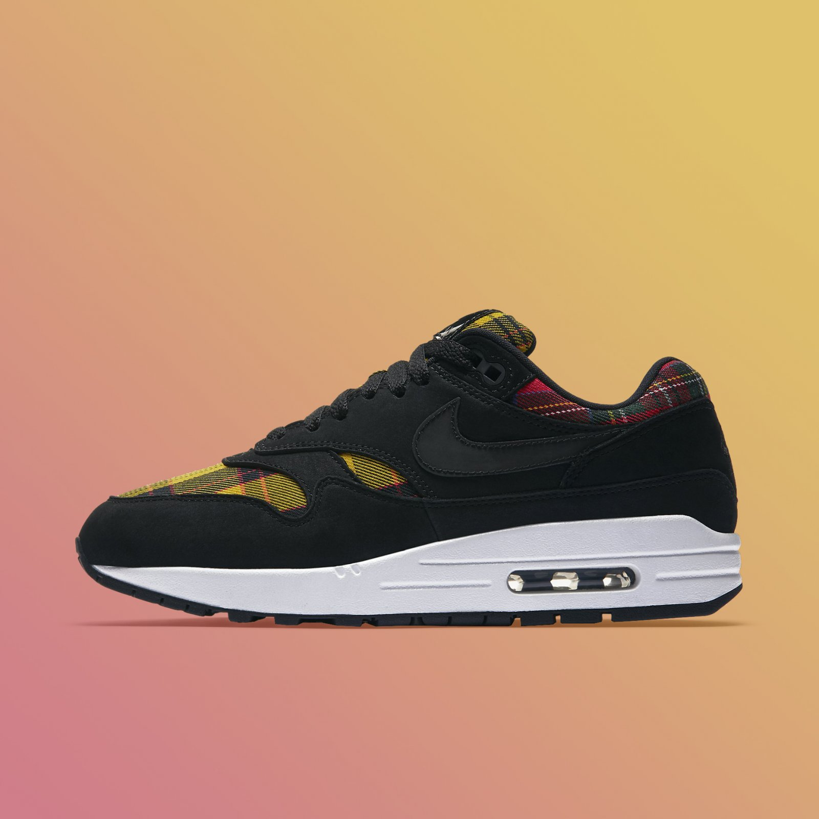 newest collection ca449 bf238 Nike Women s Air Max 1 SE Tartan Black University Red Running Shoes AV8219- 001