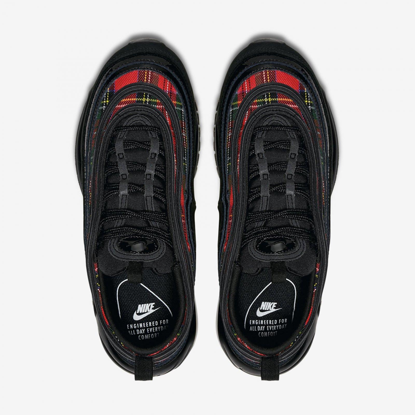 huge selection of e6cdf 85ffc Nike Women s Air Max 97 SE Tartan Black University Red Running Shoes  AV8220-001