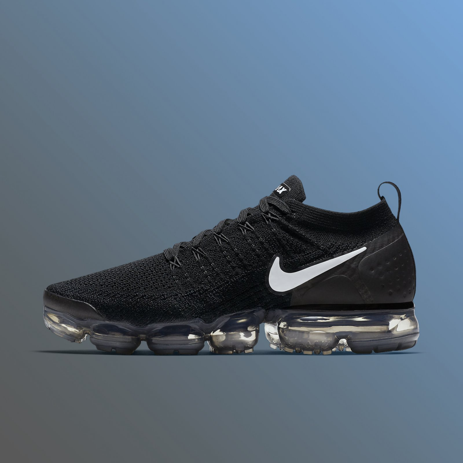 cheap for discount a277f 9efcd Details about Nike Air Vapormax Flyknit 2.0 Black White Grey Men s Running Shoes  942842-001