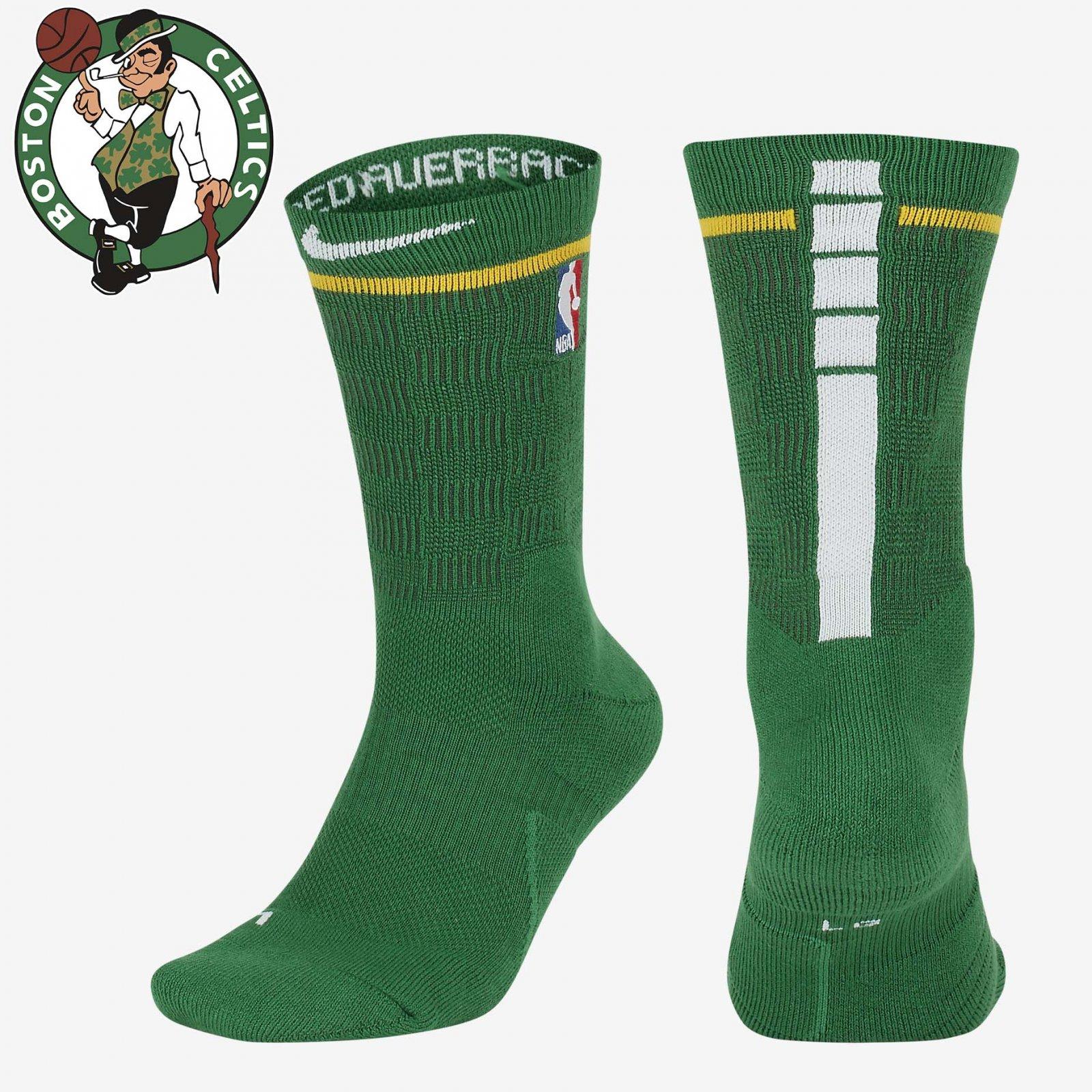 da1a31de3 Details about NBA Nike Elite City Edition Crew Bosten Celtics Green White  BOS Socks SX5988-312