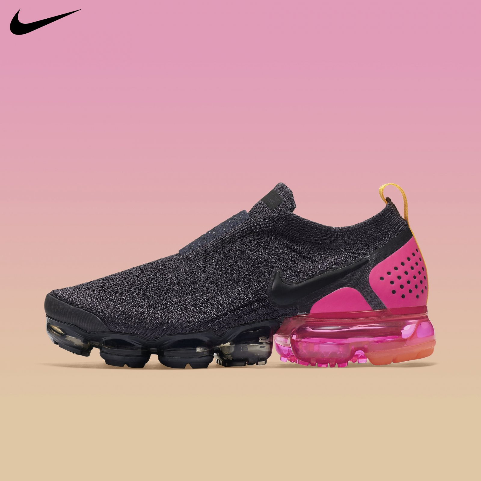 first rate d81e8 adba9 Nike Women's Air VaporMax Flyknit Moc 2 Gridiron Black Pink ...