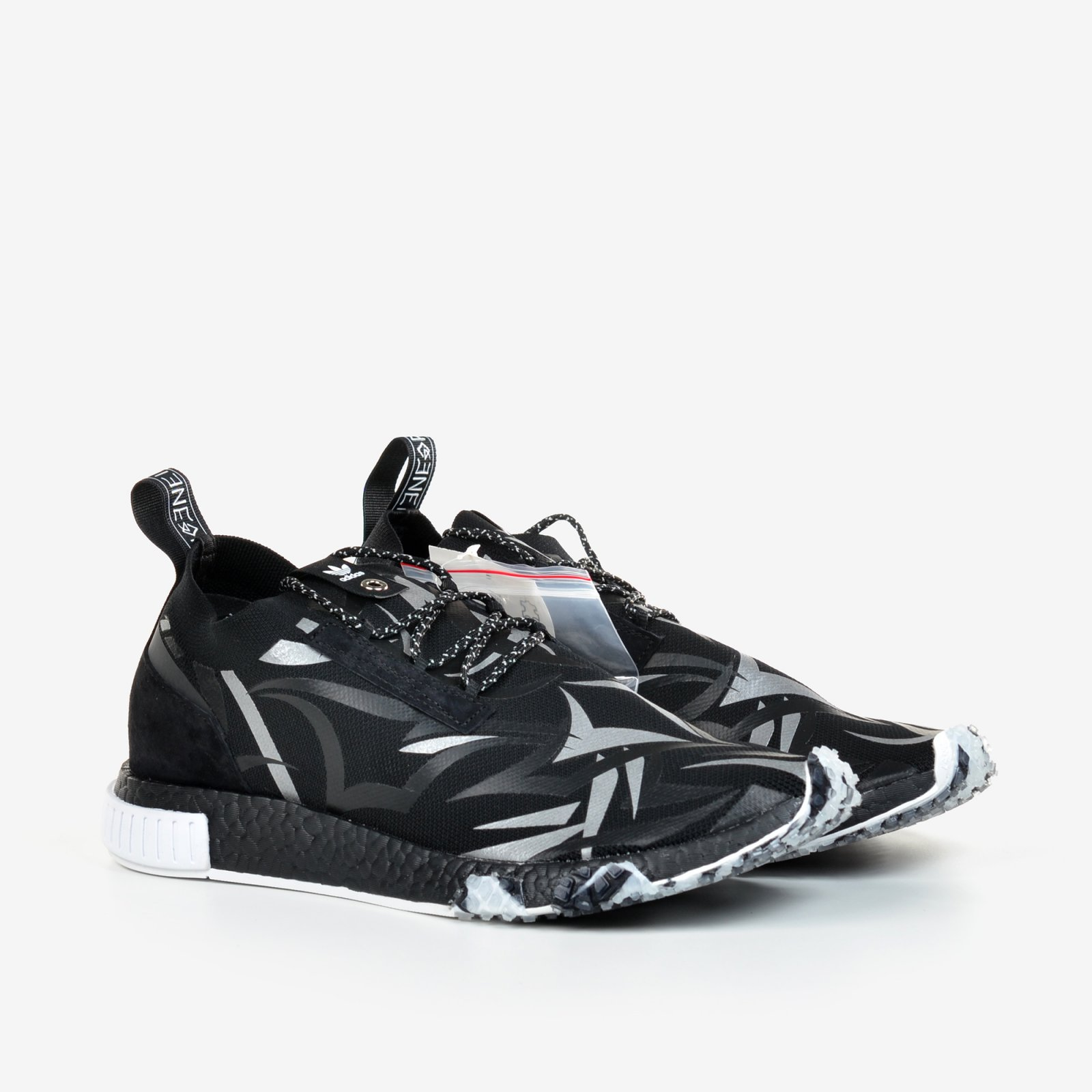 854b81670 Details about Adidas Consortium X Juice NMD Racer Alienegra White Black  with Shoe Bag DB1777
