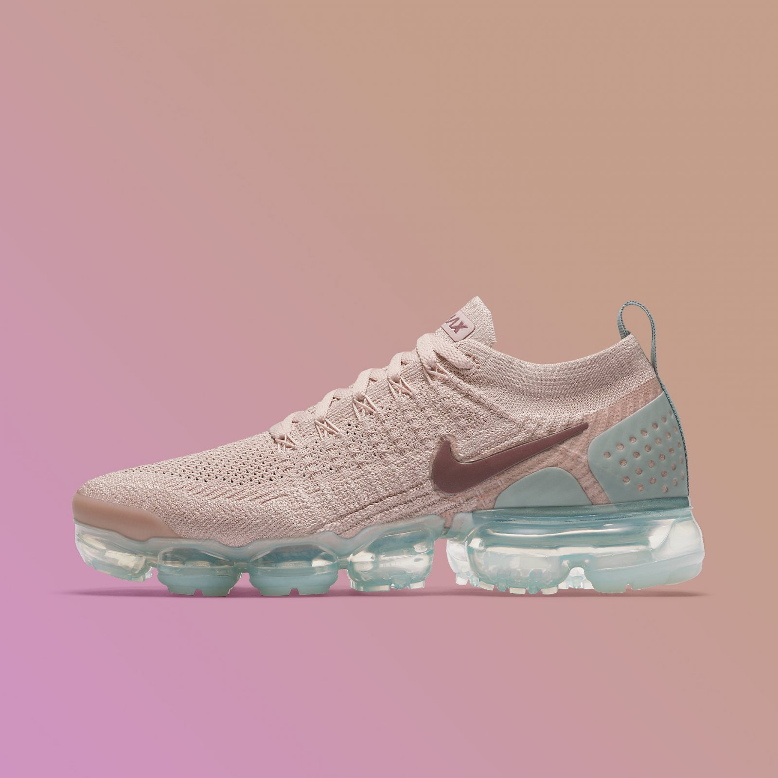 b450df1e43 Details about Nike Women's Air VaporMax Flyknit 2 Particle Beige Mauve  Running Shoe 942843-203
